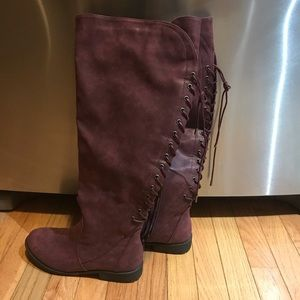 Shoes - Lavender wide calf zip up boots